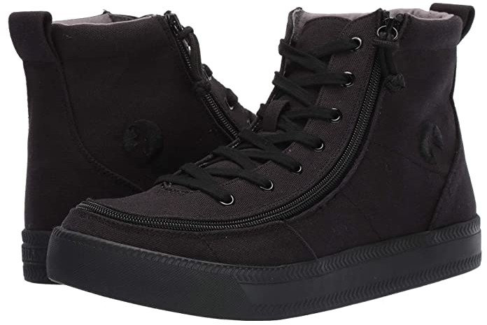 Billy Footwear Classic High-Top Canvas Sneaker (Men) - Black to the Floor