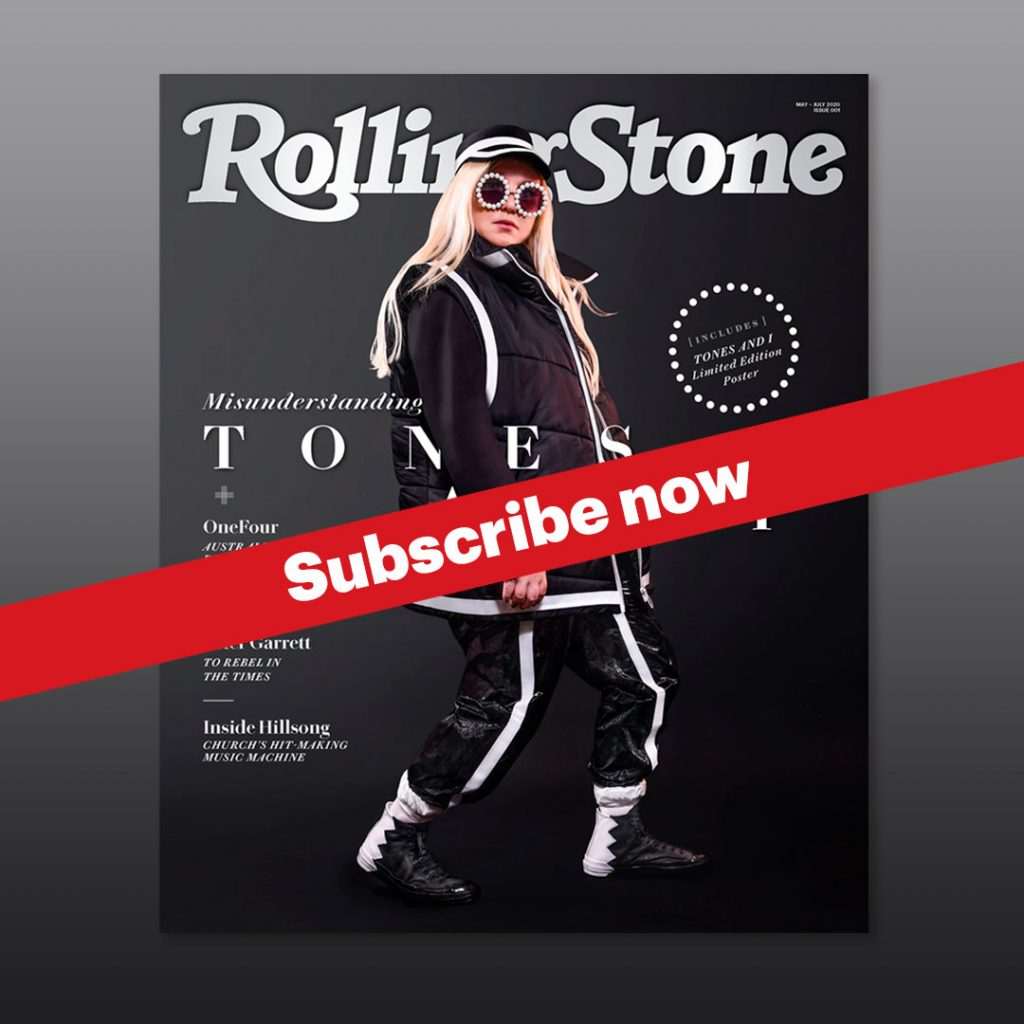 Image of the first issue of Rolling Stone Australia