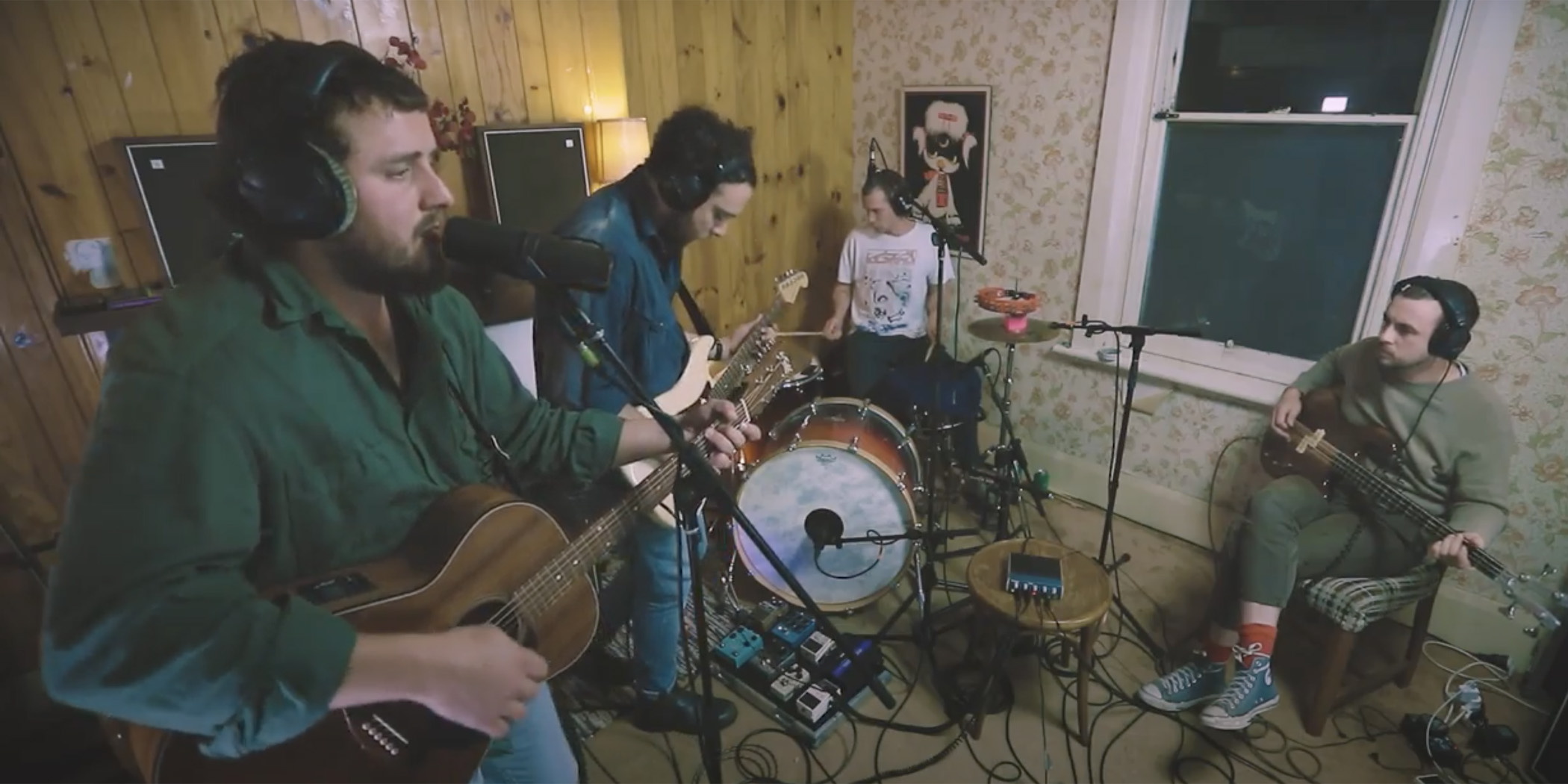 Image of Bad//Dreems performing for Rolling Stone's 'In My Room' series