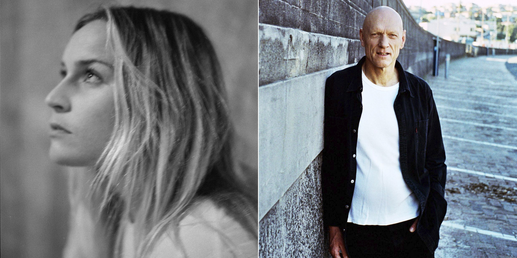 2 panel image of Jack River and Peter Garrett