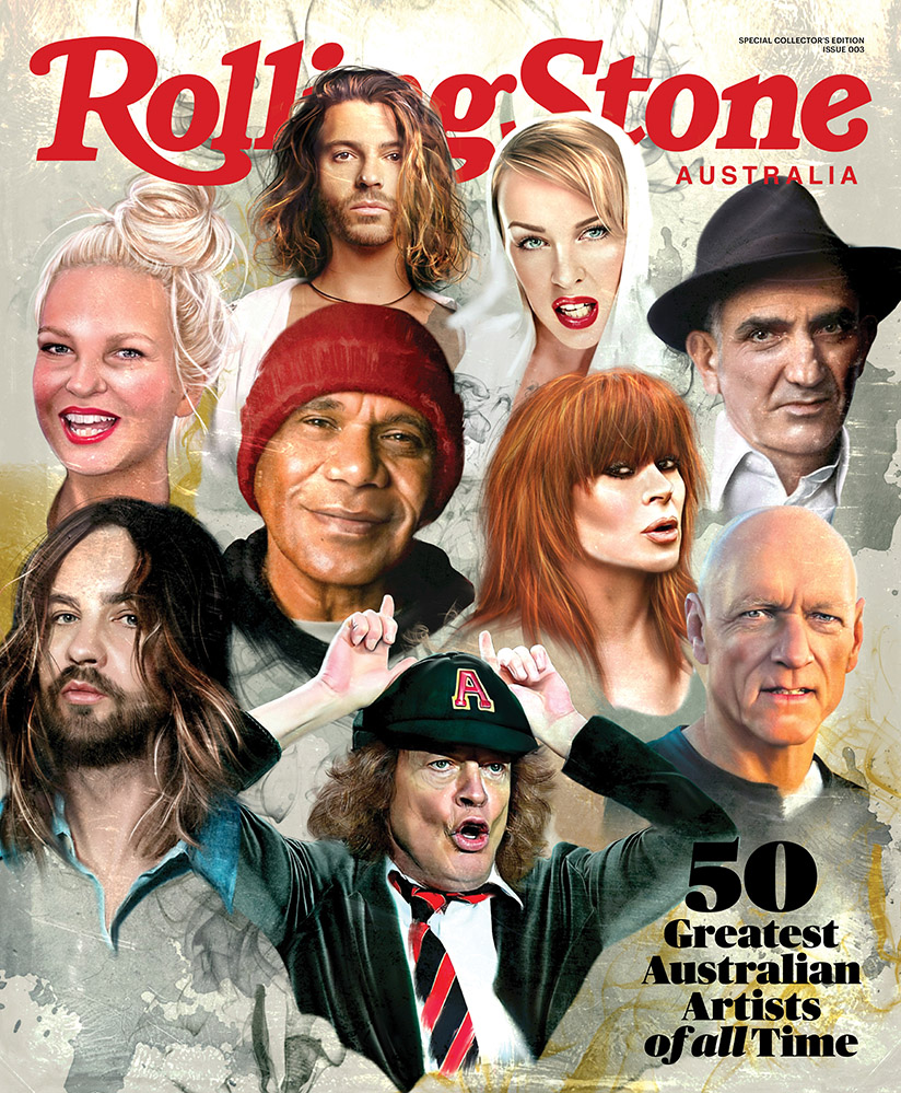 Image of the Rolling Stone '50 Greatest Australian Artists of All Time' list