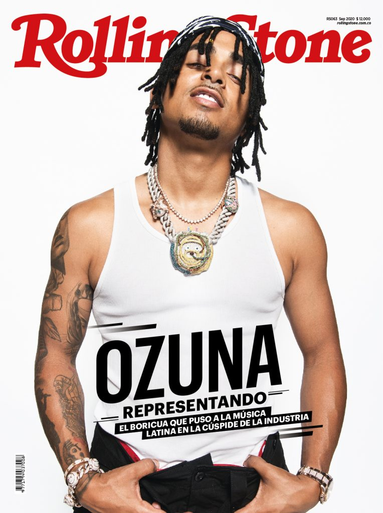 Ozuna on the cover of 'Rolling Stone Colombia'