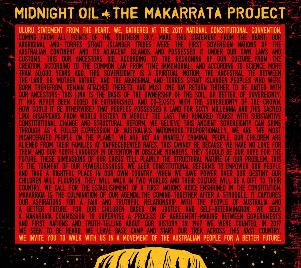 Image of 'The Makarrata Project' by Midnight Oil
