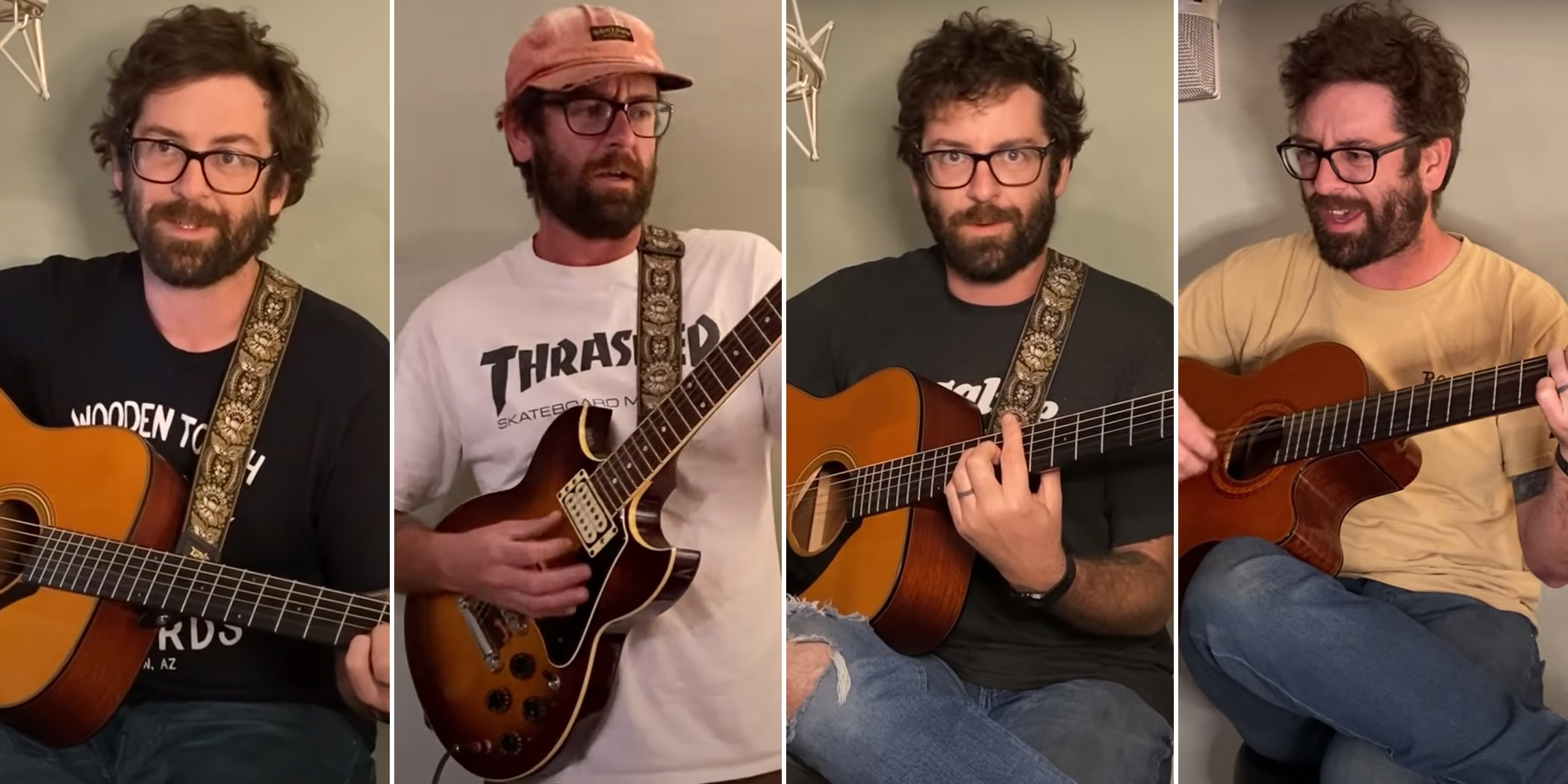 Image of AJJ frontman Sean Bonnette performing for his 'Live From Quarantine' series